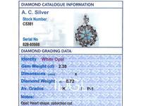 2.38ct Opal & 0.72ct Diamond, 12ct Yellow Gold Pendant / Brooch - Antique c.1880 (9 of 12)
