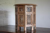 Anglo Indian Table with Circular Carved Top (2 of 10)