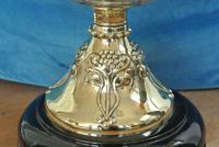 Original Art Nouveau Cut Glass & Brass Oil Lamp - Working Order c.1910 (4 of 9)