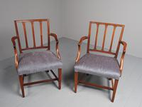 Antique Set of 8 George III Mahogany Dining Chairs (5 of 11)