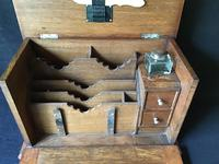 Antique Oak Stationary / Writing Cabinet (3 of 6)