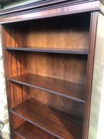 Tall English Mahogany Open Library Bookcase (9 of 10)
