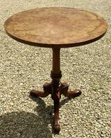 Signed Burr Walnut Occasional Table (2 of 5)