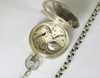 Antique silver Dimier Freres pocket watch and chain (4 of 5)