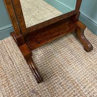 Elegant Small Victorian Inlaid Antique Cheval Mirror (2 of 6)