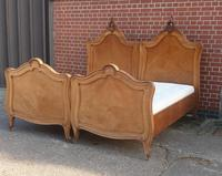 Pair of French Walnut Single Beds (16 of 17)