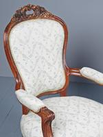 Antique Pair of French Rosewood Armchairs (5 of 19)