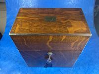 Victorian Brassbound Oak Decanter Box (5 of 20)