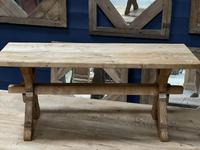 Rustic French Bleached Oak Coffee Table (4 of 20)