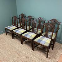 Set of 8 Hepplewhite Design Antique Mahogany Dining Chairs (4 of 10)