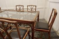 Regency Style Simulated Bamboo Conservatory Table & 6 Chairs (5 of 7)