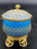 Palays Royale Box in Blue Opaline & Gold Brass Frame (2 of 5)