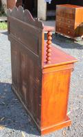 1900's Carved Mahogany 2 Door Chiffonier with Back (4 of 4)