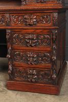 Carved Oak Pedestal Desk (5 of 19)