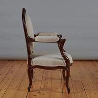 Pair of French Louis XV Style Walnut Armchairs (6 of 9)