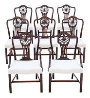 Set of 8 (6+2) Georgian Mahogany Dining Chairs c.1820