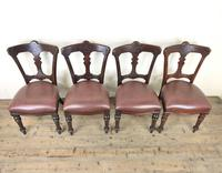Set of Four Victorian Mahogany Dining Chairs (3 of 7)