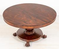 William IV Rosewood Flip Top Centre Table (6 of 9)