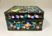 Antique Oriental Cloisonné Enamel Box c.1890 (6 of 8)