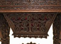 Antique Burmese Work Box - Desk Writing Table 1890 Hardwood (4 of 13)