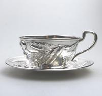 Eduard Friedman - Extremely Rare 800 Solid Silver Vienna Cup & Saucer 1900 (3 of 15)