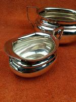 Art Deco Silver Plate EPNS Cream Jug & Sugar Bowl c.1930 (3 of 12)