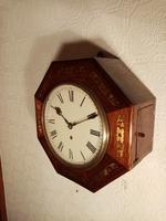 Unusual Rosewood Octagonal Fusee Wall Clock (5 of 5)