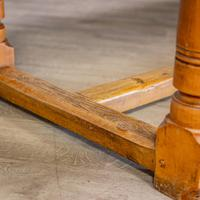 """""""h"""" Stretcher Pine Kitchen Table (4 of 8)"""