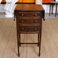 Chest of Drawers Mahogany Bowfront Drop Leaf 19th Century Petite (2 of 11)