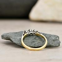 The Vintage Early 20th Century Three Diamond Ring (5 of 6)