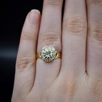 Antique Victorian Old Cut Diamond Cluster 18ct 18K Yellow Gold Ring 1.0ct total (6 of 9)