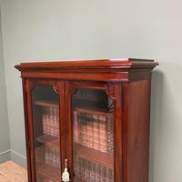 Stunning Quality Victorian Glazed Mahogany Bookcase (2 of 7)