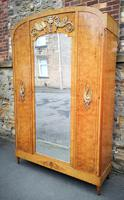 French Art Deco Burr Ash, Marquetry & Gilt Metal Mounted Wardrobe c.1910 (3 of 18)