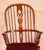 Near Pair of English Windsor Armchairs - 19th Century (9 of 11)
