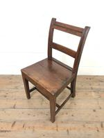 Set of Six Welsh Oak Farmhouse Kitchen Chairs with Bar Backs (3 of 9)