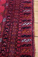 Handmade Bokhara wool rug vibrant red ground (11 of 11)