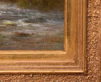 """Oil Painting Pair by William Ward Gill """"Falls at the Head of Loch Lomond"""" (7 of 8)"""