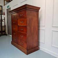Large Antique Bank of Mahogany Drawers c.1880 (2 of 8)