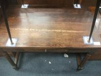 Solid Oak Bobbin Leg Table with Drawer (2 of 4)