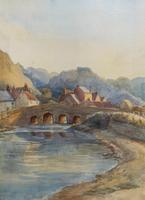 Large Original 19th Century Antique Yorkshire Landscape Watercolour Painting (7 of 11)