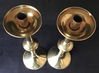 Pair of Tall Brass 19th Century Church / Altar Candlesticks (3 of 6)