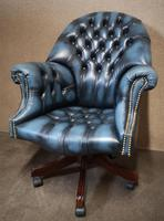 Directors Blue Leather Chesterfield Captains Office Chair (12 of 12)