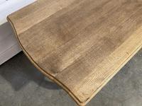Bandy Leg French Bleached Oak Farmhouse Table (7 of 15)
