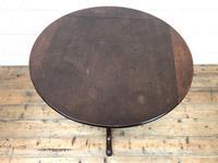 Antique Mahogany Tilt Top Table (6 of 9)