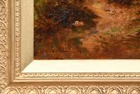 """Oil Painting Pair by Ernest Charles Walbourn """"A Tranquil River Scene"""" (4 of 5)"""