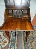 Walnut Bureau Bookcase c.1920 (6 of 7)