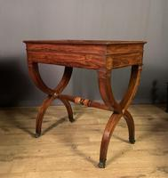 Stunning French Charles X Walnut Library Writing Table (6 of 16)