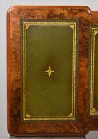 19th Century Victorian Burr Walnut Pedestal Desk (17 of 18)
