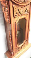 Massive Rare Antique Carved Walnut 8-Day Drop Dial Striking Wall Clock (2 of 14)