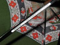 Vintage 12ct Rolled Gold Ladies Umbrella W/ Green Paisley Pattern Cotton Canopy (8 of 13)